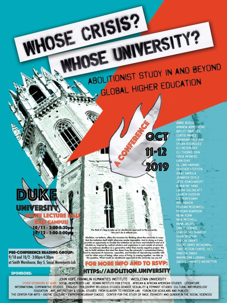 Whose Crisis? Whose University?